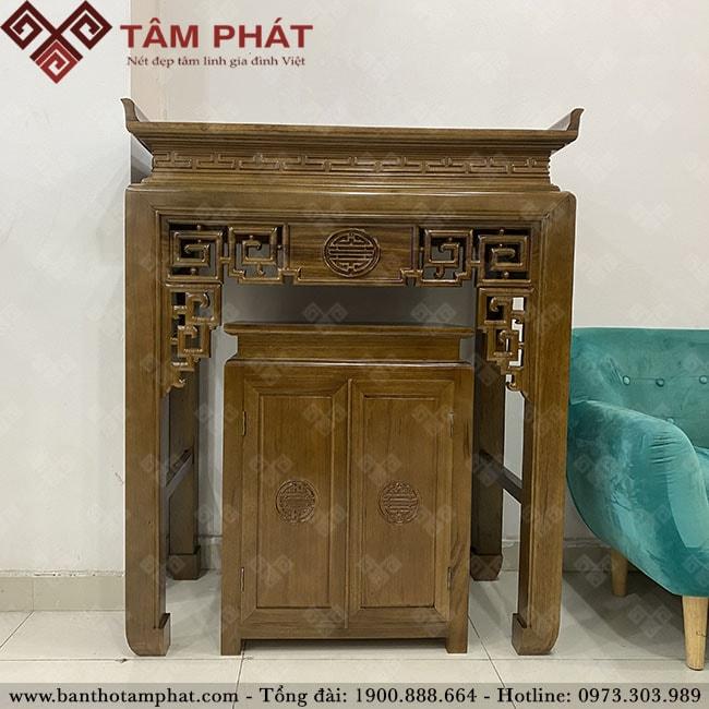 Thiết kế mẫu bàn thờ gỗ BTG1104