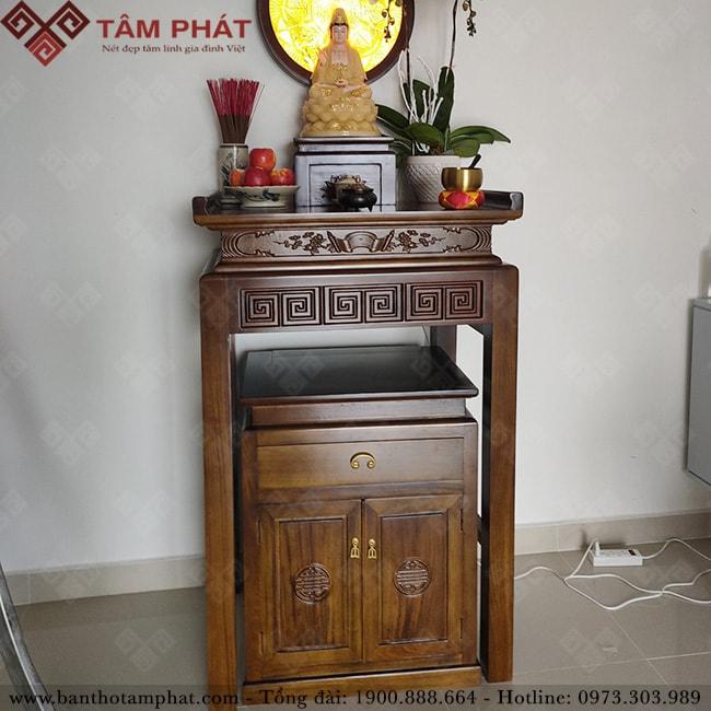 Thiết kế bàn thờ gỗ BTG1106 đơn giản, tinh tế