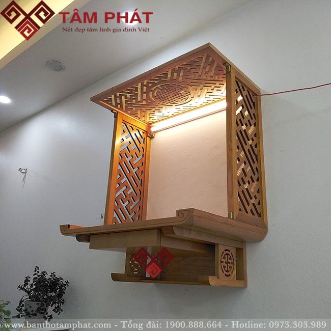 Mẫu bàn thờ BTG2070 thiết kế đầy tinh tếa