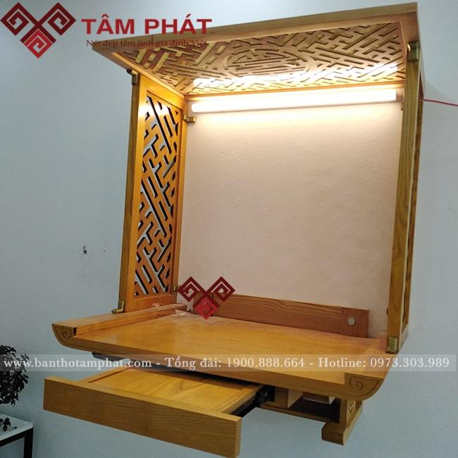 Mẫu bàn thờ gỗ treo tường phù hợp mọi không gian