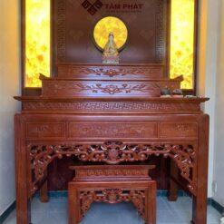Mẫu bàn thờ tam cấp đẹp được nhiều gia chủ sử dụng