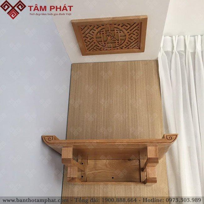 Mẫu bàn thờ treo TT2011 màu sáng sồi