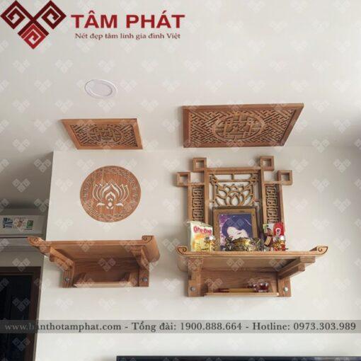 Bàn thờ Phật và gia tiên kết hợp trong một không gian
