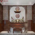Mẫu Bàn thờ Phật và thờ gia tiên BTG-1125
