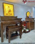 Phòng thờ Phật và gia tiên cao cấp Mẫu BTG-1121