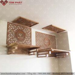 Bàn thờ treo tường Tâm Phát được nhiều khách hàng lựa chọn
